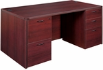 OSP Furniture Napa Scratch Resistant 71'' Double Pedestal Desk [NAPTYP2-FS-OS]
