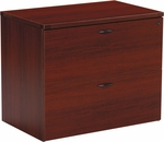 OSP Furniture Napa Lateral File - Mahogany [NAP-12-MAH-FS-OS]