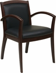 OSP Furniture Napa Guest Chair with Full Cushion Back - Espresso [NAP97ESP-EC3-FS-OS]
