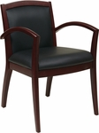 OSP Furniture Napa Guest Chair with Full Cushion Back - Mahogany [NAP97MAH-EC3-FS-OS]