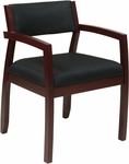 OSP Furniture Napa Guest Chair with Upholstered Back - Mahogany [NAP95MAH-FS-OS]