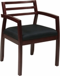 OSP Furniture Napa Guest Chair with Wood Back - Mahogany [NAP91MAH-3-FS-OS]
