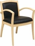 OSP Furniture Napa Guest Chair with Full Cushion Back - Maple [NAP97MPL-EC3-FS-OS]