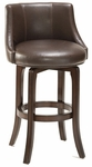 Napa Valley 25.2'' Counter Height Stool with Brown Leather Swivel Seat - Dark Brown Cherry [4294-827I-FS-HILL]