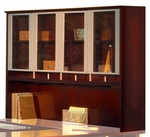 Napoli 72'' W x 15'' D x 50.5'' H Hutch - Sierra Cherry on Cherry Veneer [NH72CRY-FS-MAY]
