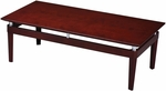 Napoli 48'' W x 24'' D x 16'' H Coffee Table - Sierra Cherry on Cherry Veneer [NTRCRY-FS-MAY]