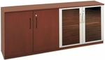 Napoli and Corsica Low Wall Cabinet with Doors - Sierra Cherry on Cherry Veneer [VLCCRY-FS-MAY]
