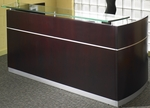 Napoli Reception Station with No Pedestals - Mahogany [NRSMAH-FS-MAY]