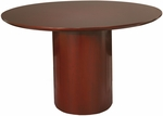 Napoli 48'' Round x 29.5'' H Conference Table - Sierra Cherry on Cherry Veneer [NCR48CRY-FS-MAY]