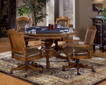 Nassau Wood 52''W x 30''H Multi Function Dining and Game Table - Rich Oak [6060GTB-FS-HILL]