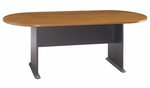 82'' W x 35'' D Racetrack Conference Table - Natural Cherry [TR57484A-FS-BBF]