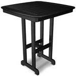 POLYWOOD® Nautical 37'' Bar Table - Black [NCBT37BL-FS-PD]
