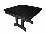POLYWOOD® Nautical 37'' Conversation Table - Black [NCCT37BL-FS-PD]