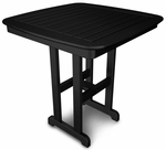 POLYWOOD® Nautical 37'' Counter Table - Black [NCRT37BL-FS-PD]