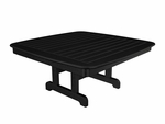POLYWOOD® Nautical 44'' Conversation Table - Black [NCCT44BL-FS-PD]
