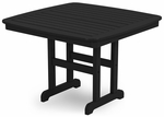 POLYWOOD® Nautical 44'' Dining Table - Black [NCT44BL-FS-PD]