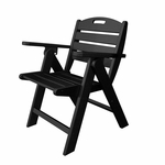 POLYWOOD® Nautical Collection Low Back Chair - Black [NCL32BL-FS-PD]