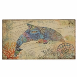 Nautical Dolphin Canvas 19.5''H Wall Art - Multicolor [2627-FS-PAS]