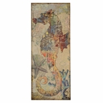 Nautical Seahorse Canvas 39.5''H Wall Art - Multicolor [2631-FS-PAS]