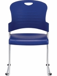 Aire S5000 18'' W x 23'' D x 34'' H Plastic Stack Side Chair - Set of Four - Navy Blue [S5000-NAVY-FS-EURO]