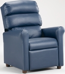 Kids Vinyl Recliner with Waterfall Back - Navy [1455-NAVY-VINYL-FS-BZ]