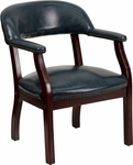 Navy Vinyl Luxurious Conference Chair [B-Z105-NAVY-GG]
