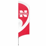 Nebraska Cornhuskers Tall Team Flag w/ Pole [TTNEB-FS-PAI]