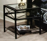 NeoClassic Series Side Table with Glass Insert [OT22-N-FS-GCM]