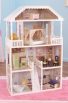 Savannah Elegant Mansion Dollhouse for 12''H Dolls Includes 14 Pieces of Furniture [65023-FS-KK]