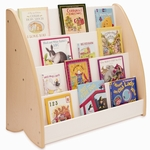 New Wave Book Display with 4 Shelves in Natural Melamine [WB4436-FS-WBR]