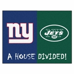 New York Giants - New York Jets House Divided Rugs 34'' x 45'' [8463-FS-FAN]