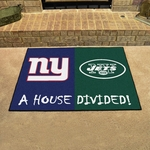New York Giants - New York Jets House Divided Mat 34'' x 45'' [8463-FS-FAN]