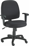 Newport 26'' W x 25'' D x 35.5'' H Adjustable Height Mid Back Mesh Task Chair - Black [FT5241-AT33-FS-EURO]