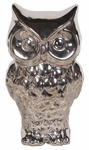 Nickel Plated Ceramic Owl [18200-FS-HEC]