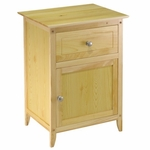 Night Stand with Drawer and Cabinet in Natural [81115-FS-WWT]