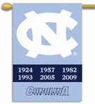 North Carolina Tar Heels Champ Years 2-Sided 28'' X 40'' Banner with Pole Sleeve [96408-FS-BSI]