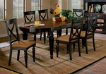 Northern Heights Oval Wood 92''W x 30''H Dining Table with Two Extension Leaves - Black Honey [4439-816W-FS-HILL]