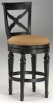 Northern 30'' Bar Height Stool with Deep Gold Fabric Swivel Seat - Black Honey [4439-830W-FS-HILL]