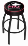 Northern Illinois University 25'' Black Wrinkle Finish Swivel Backless Counter Height Stool with 4'' Thick Seat [L8B125NORILL-FS-HOB]