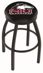 Northern Illinois University 25'' Black Wrinkle Finish Swivel Backless Counter Height Stool with Accent Ring [L8B2B25NORILL-FS-HOB]
