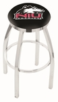 Northern Illinois University 25'' Chrome Finish Swivel Backless Counter Height Stool with Accent Ring [L8C2C25NORILL-FS-HOB]