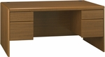 Northfield Wooden 66.6''W X 30.8''H Double Pedestal Computer Desk with 4 Drawers - Oak [EX17518K-FS-BHF]