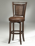 Norwood Swivel Counter Stool - Brown Vinyl [4935-827S-FS-HILL]