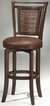 Norwood Wood 30.5'' Bar Height Stool with Brown Vinyl Swivel Seat - Brown Cherry and Copper [4935-831S-FS-HILL]