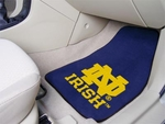 Notre Dame Team Logo Carpet Car Mat 2 Pc 18'' x 27'' [6059-FS-FAN]