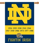 Notre Dame Champ Years 2-Sided 28'' X 40'' Banner with Pole Sleeve [96236-FS-BSI]
