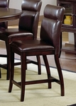 Nottingham Curved Non-Swivel Counter Height Stool with Seat - Set of 2 - Dark Walnut [4077-822-FS-HILL]