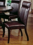 Nottingham 19''H Wood Dining Side Chair with Vinyl Seat - Set of 2 - Dark Walnut [4077-802-FS-HILL]