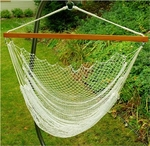 Nylon Net Hanging Hammock Rope Chair - White [8987-FS-ALG]