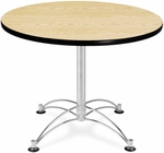36'' Round Multi-Purpose Table - Oak [KLT36RD-OAK-MFO]